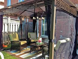 patio gazebo costco exterior design vintage hardtop gazebo with brown curtains and