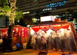 winter yatai food stalls in fukuoka