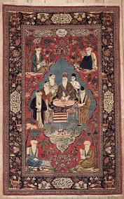 Kashan Persian Rugs by Semi Antique Persian Kashan Area Rug 37541