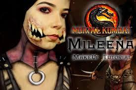 Mileena Halloween Costume Mileena Mortal Kombat Tutorial Maquiagem Artística Efeitos