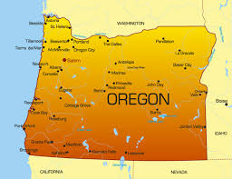 map of the state of oregon my
