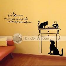 Wall Decor Stickers by Wall S Matter Home Decor Cat Pattern Wall Sticker
