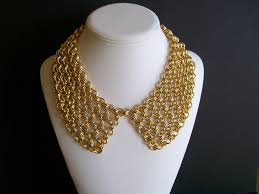 chain collar necklace images Gold chain pan collar necklace on the hunt jpg