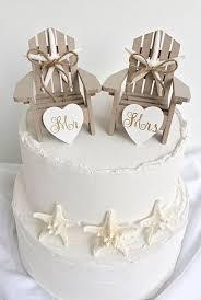 Cake Decorations Beach Theme - beach wedding cake topper mini adirondack chair set beach wedding