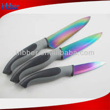 the queen of quality 3pcs color titanium knife set buy titanium