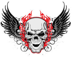 skull and wings stock vector freeimages com
