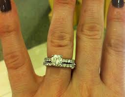 3mm diamond post your rings and the band thickness weddingbee