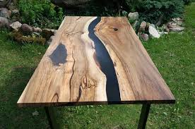 live edge river table epoxy sold live edge river walnut table with black epoxy sold