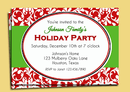 template simple christmas party invitation card maker with