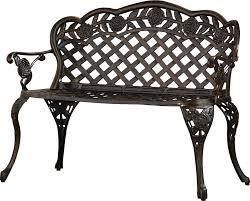 astoria grand madama cast aluminum garden bench u0026 reviews wayfair