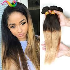 honey weave ombre hair 3pcs human hair weave sale 1b