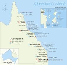 map of queensland islands map