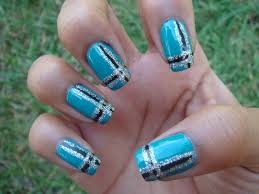 nail designs teal nail arts