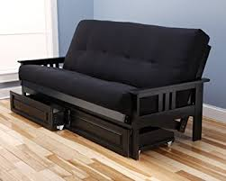 amazon com monterey full size futon sofa and drawer set black