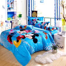 bedroom licious mickey mouse kids print bedding set bedclothes