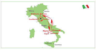 Modena Italy Map by 8 Days San Miniato Florence Sorrento Bologna Best Tour In Italy