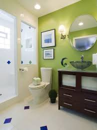 Bathroom Accent Cabinet Decorations Bathroom Design With Green Wall Accent Plus Vanity