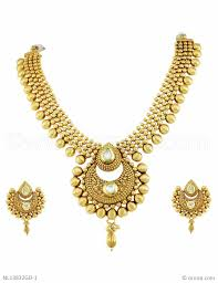 golden fashion necklace images Buy beautiful golden traditional necklace set online high quality jpg