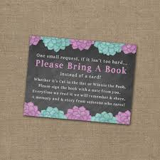 Baby Shower Invitations Bring A Book Instead Of Card Please Bring A Book Instead Of A Card Baby Shower Invitation