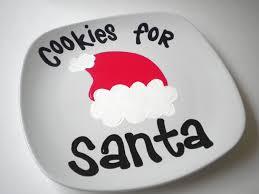 cookies for santa handpainted ceramic christmas plate 12 95 via