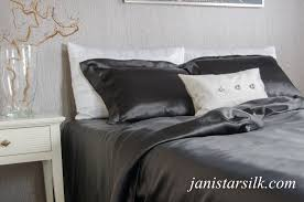 black silk bed linen set free delivery