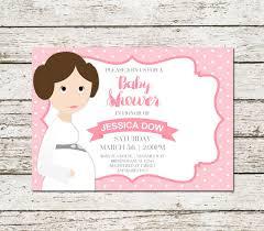 Star Wars Baby Shower Invitations - star wars baby shower invitation princess leia pink