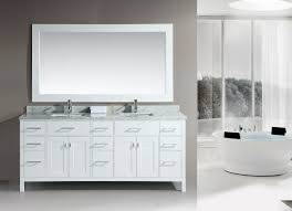 interesting white bathroom double vanity for your modern home