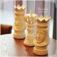 aliexpress com buy ceramic chess king queen crown home decor