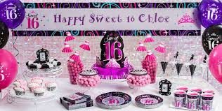 Decorations For Sweet 16 Sweet 16 Sparkle Party Supplies Sweet 16 Birthday Party City