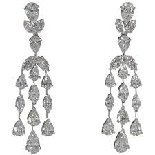 diamond drop earrings classic diamond drop earrings for sale at 1stdibs