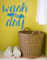 wash and dry vinyl letters stickers laundry wall decals home decor