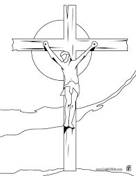 crucifixion of jesus coloring pages hellokids com