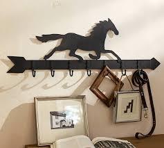Pottery Barn Shelf With Hooks Horse Weather Vane Row Of Hooks Pottery Barn