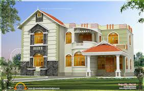 one house exterior design in two color combinations kerala home