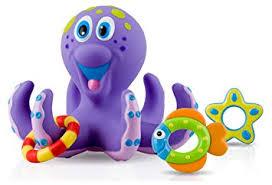 nuby octopus hoopla bathtime toys purple