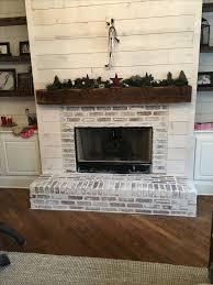 White Washed Stone Fireplace Life by Fireplace Redo Anna Berry Design Llc Shiplap Barnwood