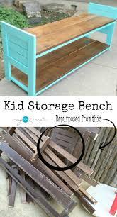 kid storage bench my repurposed life