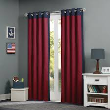 amazon com mizone liam window curtain red 84