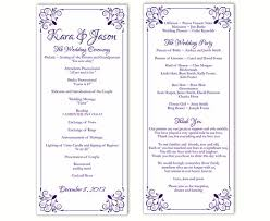 purple wedding programs wedding program template diy editable text word file