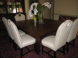 furniture round back nailhead dining chair with wood dining table