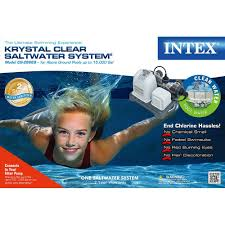 amazon com intex krystal clear saltwater system with e c o