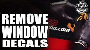 how to remove window decals chemical guys car care