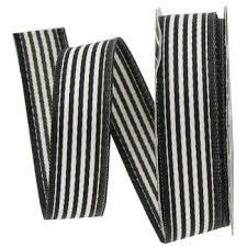 black and white striped ribbon black white 5 8 satin stripe ribbon hobby lobby 48558