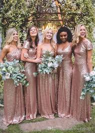 gold bridesmaid dresses blush pink gold bridesmaid dresses sequins robe de