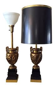 Stiffel Floor Lamps With Glass Table by Vintage Neo Classical Torchiere Stiffel Lamps A Pair Chairish