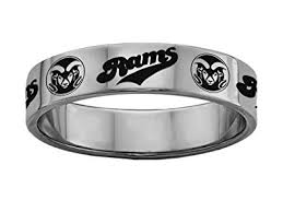 colorado wedding band colorado state rams rings stainless steel 8mm wide ring band