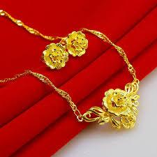 bengali earrings set necklace 45 cm in length weighing 5 5 grams earrings flower