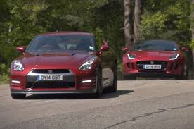nissan gtr used uk nissan gt r vs jaguar f type r coupe time trial contest