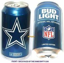 bud light beer can 2017 dallas cowboys bud light nfl kickoff beer can football sport
