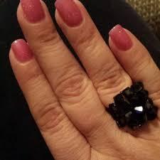 red polish nail bar 6 tips